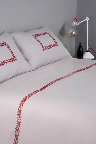 Bed - Duvet & Pillow, Laurier, Red