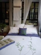 Bed - Duvet & Pillow, River Leaves, Fresh Green